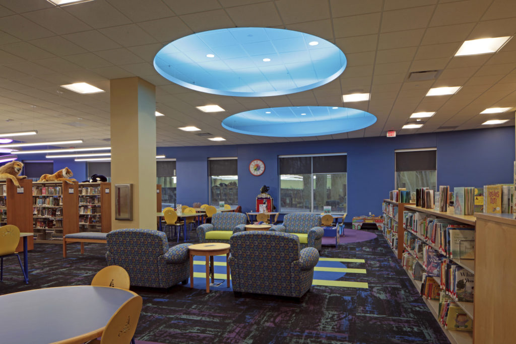 Commerce Township Library children's area
