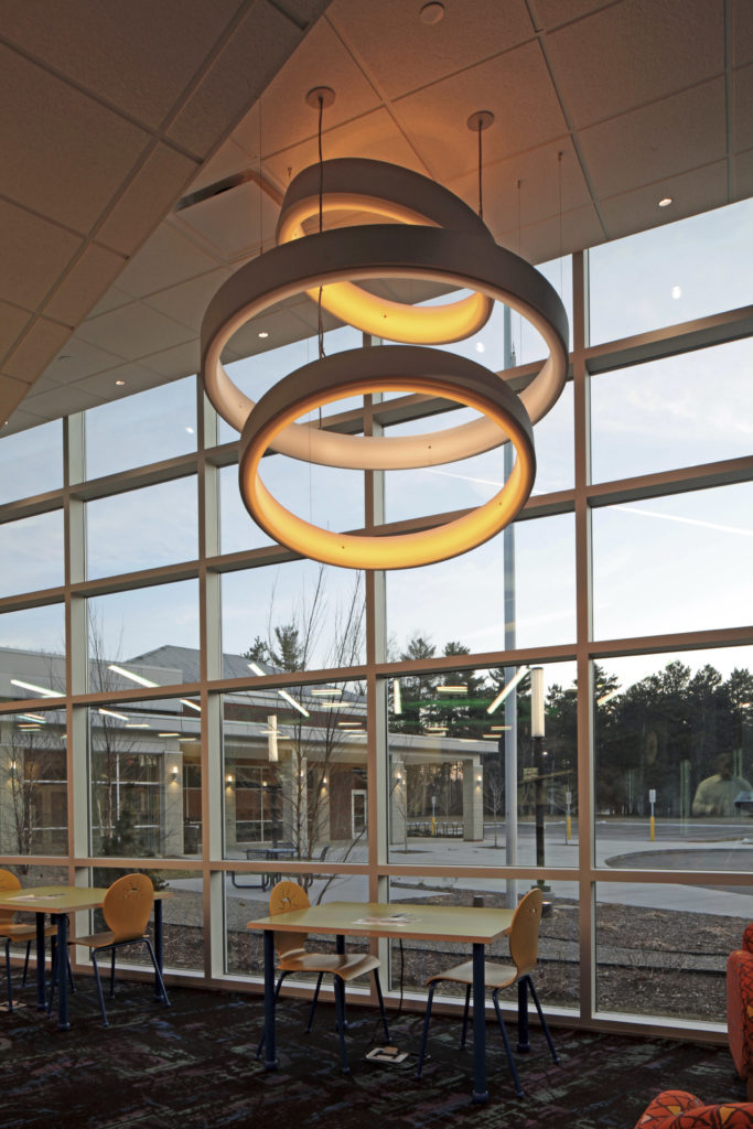 Commerce Township Library atrium