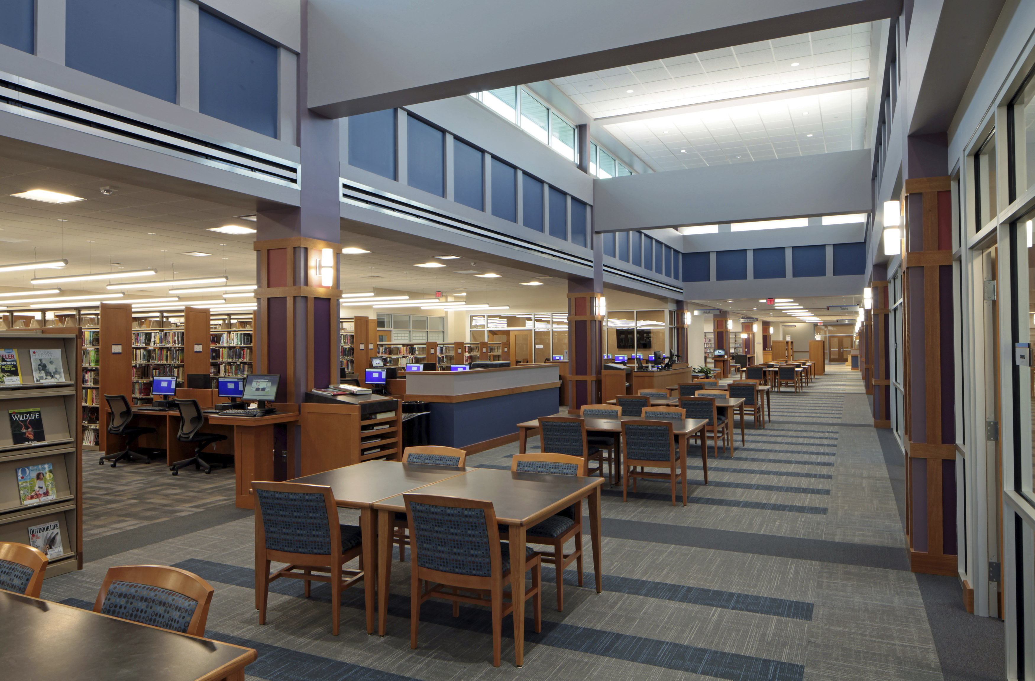Commerce Township Library reading room
