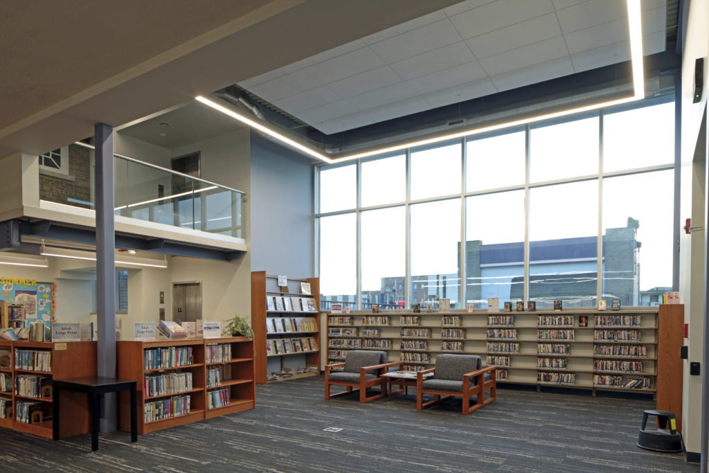 Grand Ledge Public Library stacks
