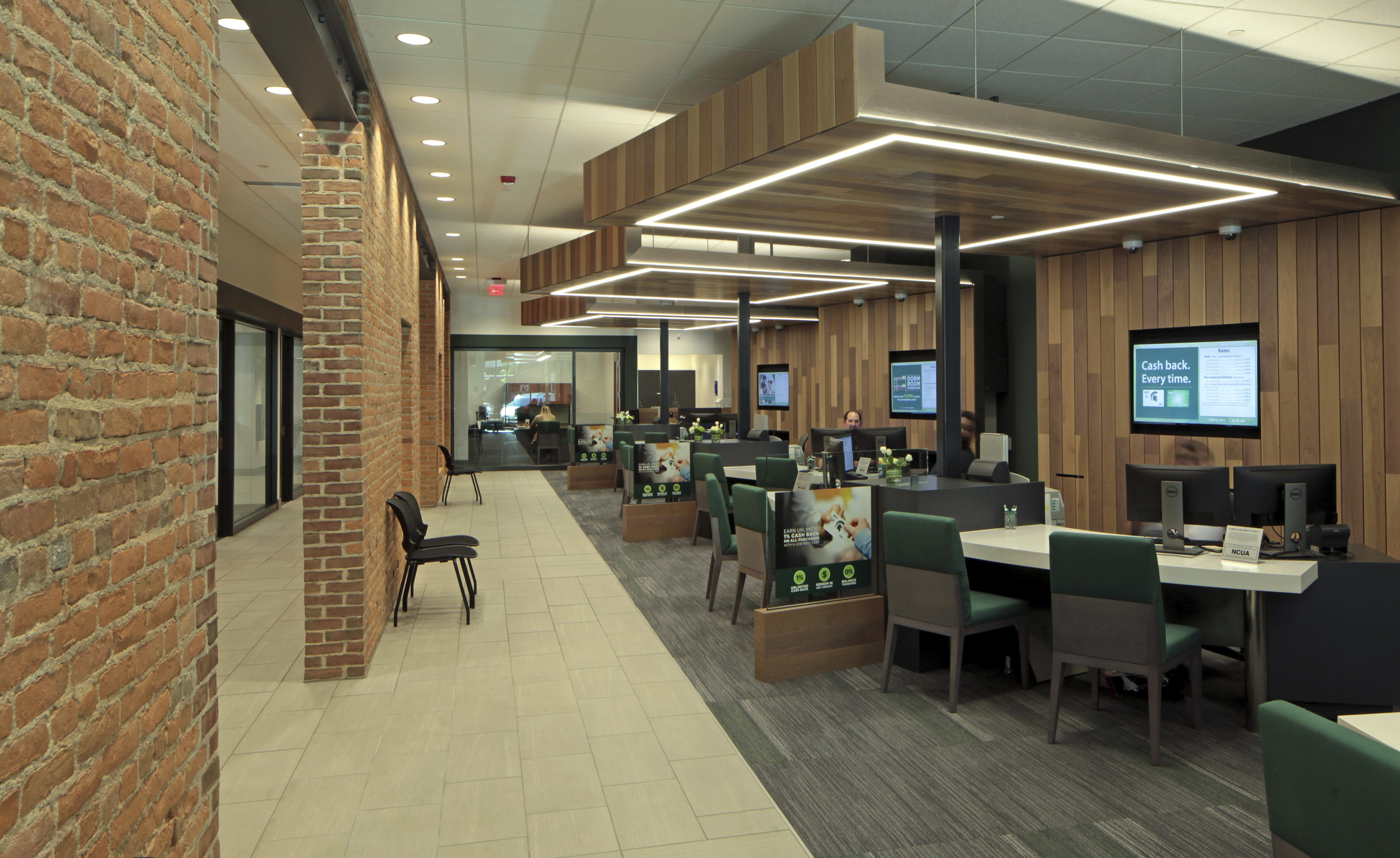 Michigan State University Federal Credit Union downtown branch member service area