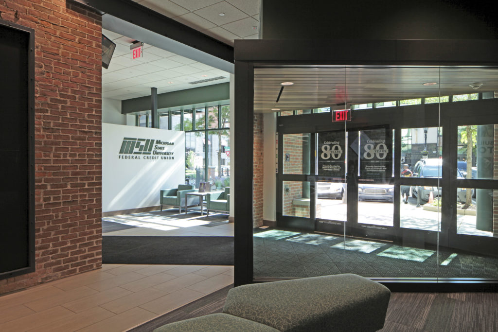 Michigan State University Federal Credit Union downtown branch lobby